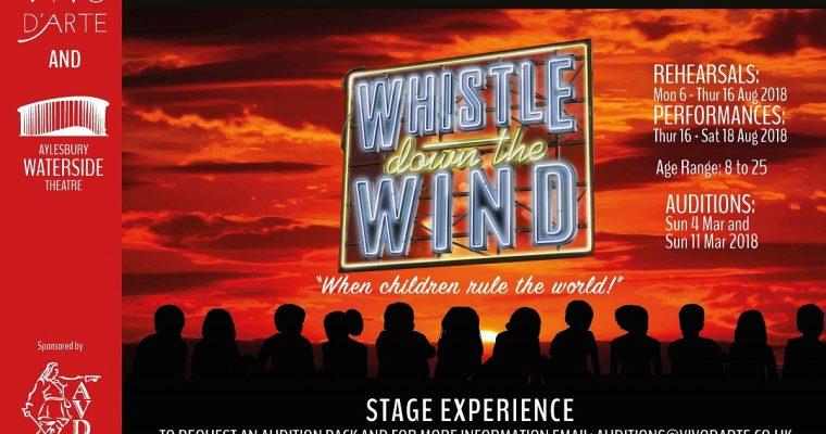 Auditions for 'Whistle Down the Wind' at Aylesbury Waterside Theatre
