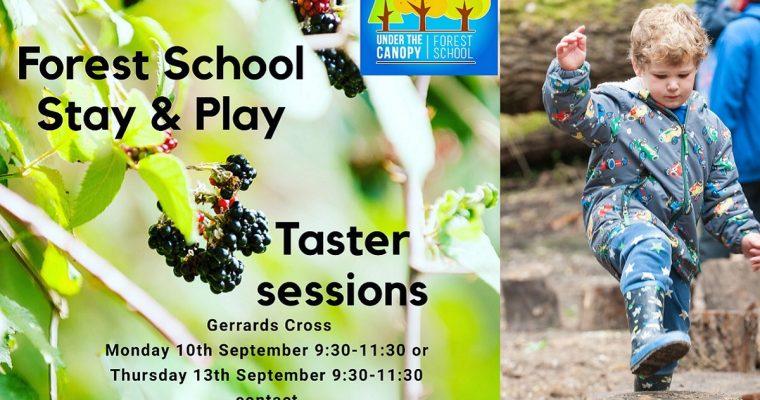 Free Forest School Taster Sessions in Gerrards Cross: 10 & 13 September